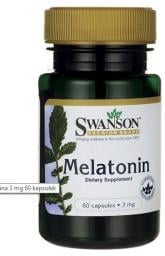 Swanson Melatonina 3mg 60 kapsułek