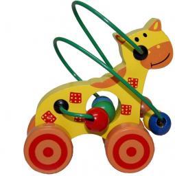Playme Drewniane zwierzątko do pchania żyrafa (264766)
