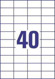 Avery Zweckform Etykieta uniwersalna Economy Europe100 ELA049 rozmiar 52,5 x 29,7 mm 4000 etykie (ELA049)