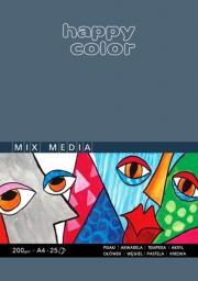Blok biurowy Happy Color MIX MEDIA HAPPY COLOR A4 25K