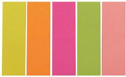 Deli Zakładki indeksujące 15x50mm, 5 kolorów (009144)