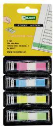 D.Rect Zakładka indeksująca 12x43mm, 4 kolory (960127)