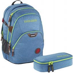 7bc6416178c24 Hama COOCAZOO zestaw plecak EvverClevver II i przybornik PencilDenzel  Skyblue Melange (001386930000)