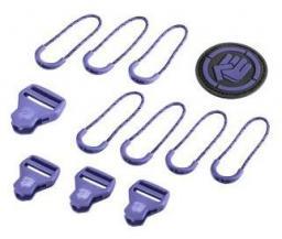 Hama COOCAZOO zestaw elementów wymiennych Classic, Dahlia Fioletowy do plecaków z systemem MatchPatch (001391670000)