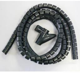 Organizer Logo Spirala zgrzewająca, 15-50mm, czarna, 2.5m