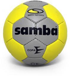 SMJ sport Piłka ręczna Samba Copa Junior szaro-żółta r. 1 (5381)