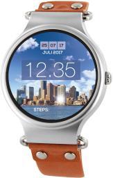 Smartwatch Xlyne Xeta XW PRO Srebrno-brązowy  (54009)