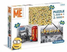 Clementoni Puzzle 500+2x1000el Minionki (08105)