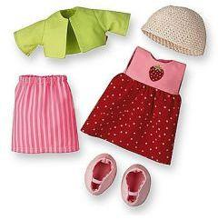 Haba Strawberry Dress Set 30cm/34cm (3669)