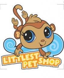 Sticker BOO DEKORACJA ŚCIENNA Małpka Littlest Pet Shop