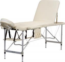 BODYFIT Łóżko aluminiowe do masażu 3 segmentowe beżowe