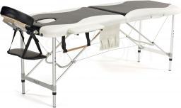 BODYFIT Łóżko aluminiowe do masażu 2 segmentowe czarno - białe