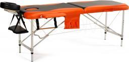 BODYFIT Łóżko aluminiowe do masażu 2 segmentowe czarno - pomarańczowe