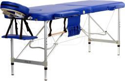 BODYFIT Łóżko aluminiowe do masażu 2 segmentowe niebieskie (469)