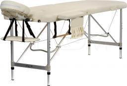 BODYFIT Łóżko aluminiowe do masażu 2 segmentowe beżowe (468)