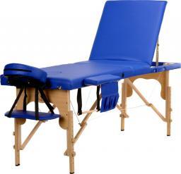 BODYFIT Łóżko do masażu 3 segmentowe niebieskie  + dodatki + torba gratis