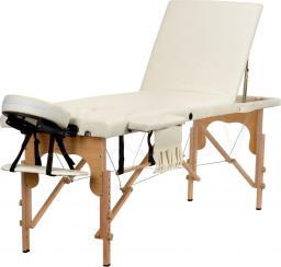 BODYFIT Łóżko do masażu 3 segmentowe beżowe + dodatki + torba gratis