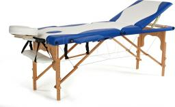 BODYFIT Łóżko do masażu 3 segmentowe biało-niebieskie