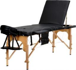 BODYFIT Łóżko do masażu czarne 3 segmentowe  + dodatki + torba gratis