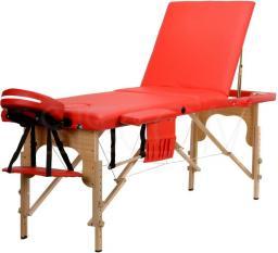 BODYFIT Łóżko do masażu czerwone 3 segmentowe + dodatki + torba gratis