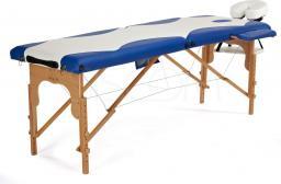 BODYFIT Łóżko do masażu 2 segmentowe dwukolorowe biało-niebieskie
