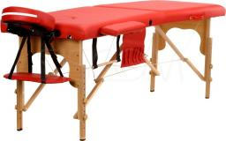 BODYFIT Łóżko do masażu 2 segmentowe czerwone