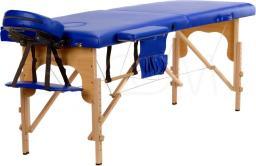 BODYFIT Łóżko do masażu 2 segmentowe niebieskie