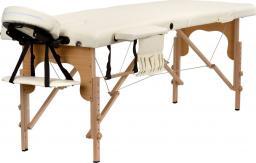 BODYFIT Łóżko do masażu 2 segmentowe beżowe