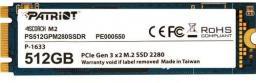 Dysk SSD Patriot Scorch 512GB M.2 PCIe NVMe (PS512GPM280SSDR)