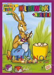 Wielkanoc. Stół wiekanocny - kolorowanki+naklejki