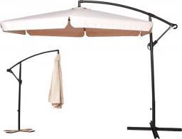 Furnide składany parasol ogrodowy na wysięgniku bocznym, beżowy