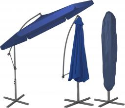 Furnide Składany Parasol Ogrodowy na wysięgniku bocznym - Granatowy