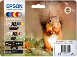 Epson Oryginalny zestaw tuszy 378XL+478XL Claria Photo HD (C13T379D4010)