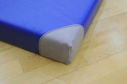 SPORTPOLAND Materac gimnastyczny niebieski 200x120x10 cm (00683)