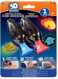 Epee  3D Magic - Fabryka 3D. Mega żele świecące w ciemności, 2-pack  (EP02853)