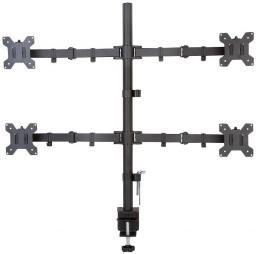 Techly Uchwyt nabiurkowy na 4 monitory 13-27cali 4x10kg, czarny (027521)