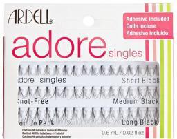 Ardell Zestaw kępek do rzęs Adore Combo Pack Short Black 16szt Medium Black 16szt Long Black 16szt