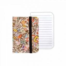 Starpak Notes z gumką A7/80K Litery (NZGA7 LIT)