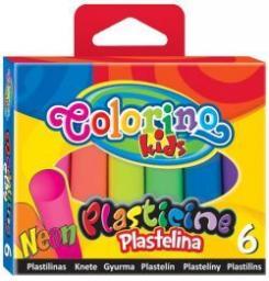 Colorino Plastelina neonowa 6 kolorów (935409)