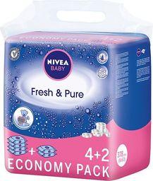 Nivea Nivea Baby Chusteczki Fresh & Pure  6 x 63szt - 0186235
