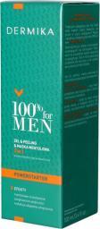 Dermika 100% for Men Żel & Peeling & Maska mentolowa 3w1 100ml