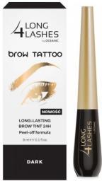 Long 4 lashes Brow Tattoo Preparat żelowy do brwi 24H Dark 8ml