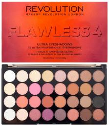 Makeup Revolution  Ultra Eyeshadows Paleta 32 Cieni Do Powiek Flawless 4