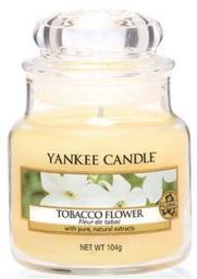 Yankee Candle Small Jar mała świeczka zapachowa Tabacco Flower 104g