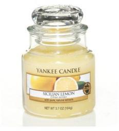 Yankee Candle Small Jar mała świeczka zapachowa Sicilian Lemon 104g