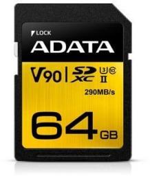 Karta pamięci ADATA SD Premier ONE 64GB (ASDX64GUII3CL10-C)