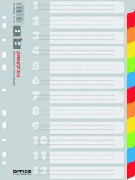 Office Products Przekładki kartonowe A4 12 kart mix kolorów (21071221-99)