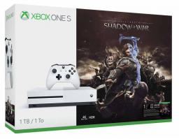 Microsoft Xbox One S 1TB + Middle Earth: Shadow of War + 6M LIVE (234-00189)