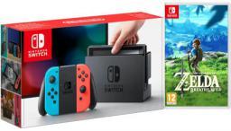 Switch czerwono-niebieska + Zelda: Breath of the Wild