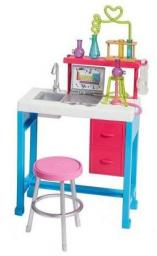 Mattel Barbie Zestaw mebelków Laboratorium Naukowe (FJB25)